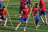 Spainsh Ander Herrera and Juan Mata  during the training of the spanish national football team in the city of football of Las Rozas in Madrid, Spain. November 09, 2016. (ALTERPHOTOS/Rodrigo Jimenez) ///NORTEPHOTO.COM
