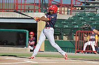 Peoria Chiefs Magneuris Sierra (34) swings during the Midwest League game against the Burlington Bees at Community Field on June 9, 2016 in Burlington, Iowa.  Peoria won 6-4.  (Dennis Hubbard/Four Seam Images)