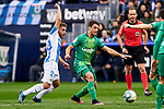Kevin Rodrigues of CD Leganes and Mikel Oyarzabal of Real Sociedad