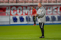 assistent coach Thomas Buffel of Belgium pictured before a soccer game between the national teams Under21 Youth teams of Belgium and Denmark on the fourth matday in group I for the qualification for the Under 21 EURO 2023 , on tuesday 12 th of october 2021  in Leuven , Belgium . PHOTO SPORTPIX   STIJN AUDOOREN