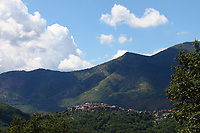 Pastena: This little town is in the heart of Ciociaria. In fact, it is surrounded by the paysage typical of this zone, a sunny countryside in the summer and hills that are usually not very high, but quite harsh to be climbed. This is an enlargement of a part of the original photo.