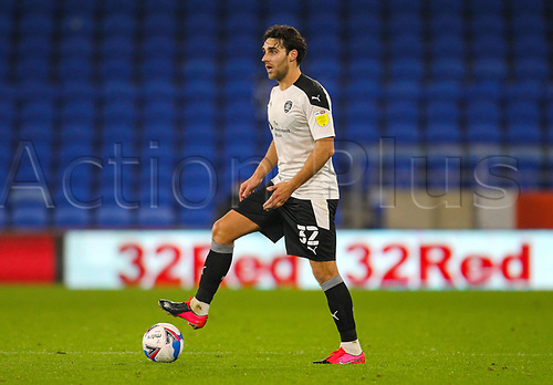 3rd November 2020; Cardiff City Stadium, Cardiff, Glamorgan, Wales; English Football League Championship Football, Cardiff City versus Barnsley; Matty James of Barnsley controls the ball