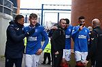 06.02.2021 Rangers v St Mirren: Rangers players celebrate