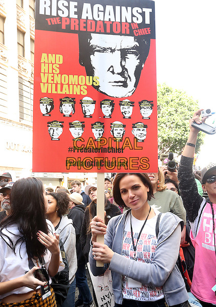 ALos Angeles CA - JANUARY 21: Lana Parrilla, At Women's March Los Angeles, At Downtown Los Angeles In California on January 21, 2017. <br /> CAP/MPI/FS<br /> ©FS/MPI/Capital Pictures