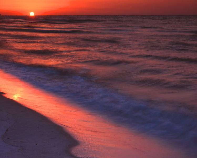 Sunrise over the Gulf of Mexico; Gulf State Park, AL