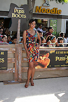 """LOS ANGELES - OCT 23:  Sharon Leal.    """"Puss In Boots"""" Los Angeles Premiere.    Sharon Leal arriving at the """"Puss In Boots"""" Premiere at the Regency Village Theater on October 23, 2011 in Westwood, CA"""