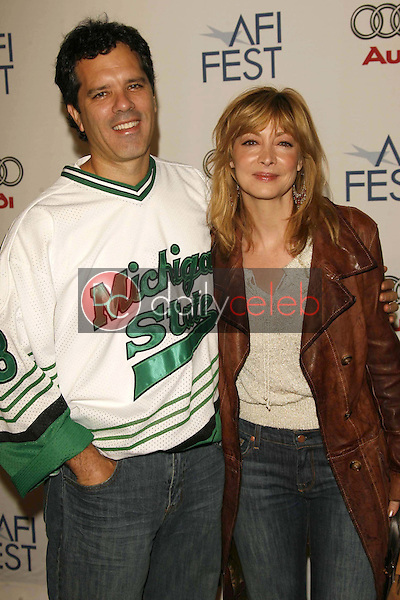 """Sharon Lawrence and husband Tom<br />at the AFI Fest 2006 Screening of """"Lies and Alibis"""". Arclight Cinemas, Hollywood, CA. 11-10-06<br />Dave Edwards/DailyCeleb.com 818-249-4998"""