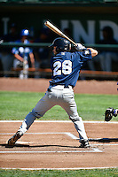 Wuilder Rodriguez (26) of the Helena Brewers at bat against the Ogden Raptors in Pioneer League action at Lindquist Field on July 16, 2016 in Ogden, Utah. Ogden defeated Helena 5-4. (Stephen Smith/Four Seam Images)
