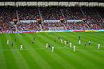 Stoke City 1 West Bromwich Albion 1, 24/09/2016. Bet365 Stadium, Premier League. Fans and players watch a goal kick from Ben Foster of West Bromwich Albion. Photo by Paul Thompson.