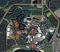 aerial photo map of the Magic Kingdom Park,  Walt Disney World Resort near Orlando Florida