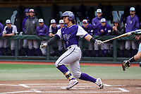 CHAPEL HILL, NC - FEBRUARY 19: Travis Holt #8 of High Point University hits the ball during a game between High Point and North Carolina at Boshamer Stadium on February 19, 2020 in Chapel Hill, North Carolina.