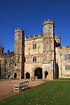 Great Britain, East Sussex, Battle: Gatehouse of Battle Abbey, built on the site where Duke William of Normandy defeated King Harold 2nd at the Battle of Hastings