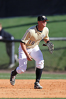 UCF Knights first baseman Chase Darhower #18 during a game against the Siena Saints at the UCF Baseball Complex on March 4, 2012 in Orlando, Florida.  Central Florida defeated Siena 15-2.  (Mike Janes/Four Seam Images)