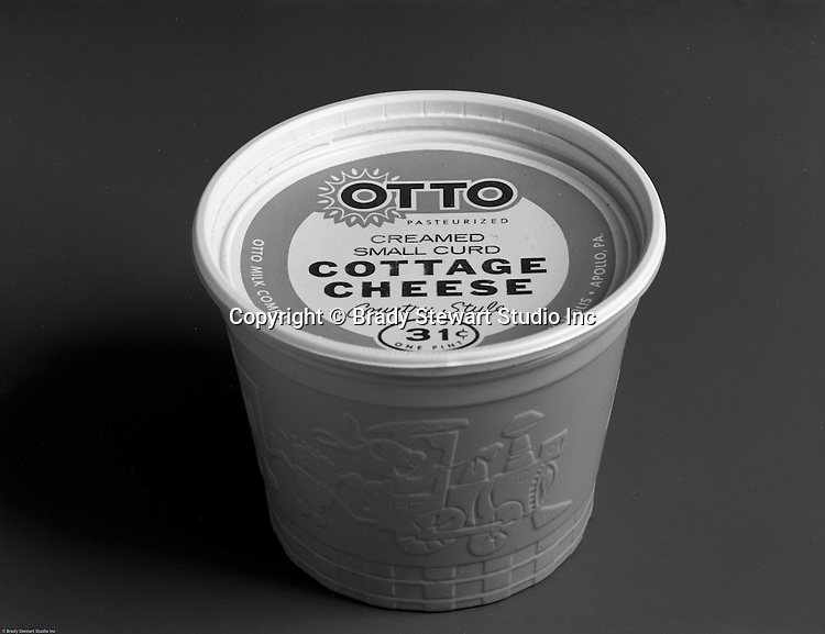 Client: Otto Milk Dairy<br /> Ad Agency: Ketchum, MacLeod & Grove<br /> Contact: Mr. Ken MacDonald<br /> Product: Otto Cottage Cheese<br /> Location: Brady Stewart Studio at 725 Liberty Avenue in Pittsburgh<br /> <br /> Studio photography of Otto Dairy products.  Photographic assignment for Ketchum McLeod & Grove Advertising