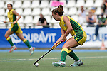 GER - Mannheim, Germany, May 24: During the U16 Girls match between Australia (green) and Germany (white) during the international witsun tournament on May 24, 2015 at Mannheimer HC in Mannheim, Germany. Final score 0-6 (0-3). (Photo by Dirk Markgraf / www.265-images.com) *** Local caption *** Sage Rogers-Uff #16 of Australia
