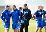 St Johnstone Training….13.09.19     McDiarmid Park, Perth<br />Manager Tommy Wright pictured during this morning's training session ahead of tomorrow's game at Aberdeen<br />Picture by Graeme Hart.<br />Copyright Perthshire Picture Agency<br />Tel: 01738 623350  Mobile: 07990 594431