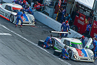 22-25 January, 2009, Daytona Beach, Florida USA.The Brumos Porsche team pits..©F.Peirce Williams 2009.F.Peirce Williams.photography