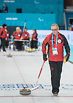 Sochi, RUSSIA - Mar 7 2014 -  Joe Rea Head Coach of Canada's Wheelchair Curling Team during training before the Sochi 2014 Paralympic Winter Games in Sochi, Russia.  (Photo: Matthew Murnaghan/Canadian Paralympic Committee)