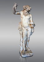 """ Silenus Drunk "" - A 2nd century AD Roman sculpture made from marble from Paros. Silenus was described as the oldest, wisest and most drunken of the followers of Dionysus, the god of wine. When intoxicated, Silenus was said to possess special knowledge and the power of prophecy. From the Ancient Royal Collection of France inv MR 343 (or MA 291) previously held at Versailles. Louvre Museum Paris."