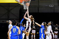 SANTA CRUZ, CA - JANUARY 22: Ashten Prechtel #11 goes up for a shot during the Stanford Cardinal women's basketball game vs the UCLA Bruins at Kaiser Arena on January 22, 2021 in Santa Cruz, California.