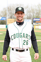 April 11 2010: Manager Aaron Nieckula of the Kane County Cougars at Elfstrom Stadium in Geneva, IL. The Cougars are the Low A affiliate of the Oakland A's. Photo by: Chris Proctor/Four Seam Images
