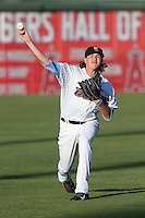 Mike Clevinger #22 of the Inland Empire 66ers warms up before pitching against the Modesto Nuts at San Manuel Stadium on May 28, 2014 in San Bernardino, California. Modesto defeated Inland Empire, 3-2. (Larry Goren/Four Seam Images)