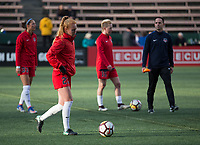 Seattle, WA - Saturday March 24, 2018: Tori Huster during a regular season National Women's Soccer League (NWSL) match between the Seattle Reign FC and the Washington Spirit at the UW Medicine Pitch at Memorial Stadium.