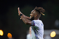 LAKE BUENA VISTA, FL - JULY 22: Kendall Waston #2 of FC Cincinnati celebrates a goal during a game between New York Red Bulls and FC Cincinnati at Wide World of Sports on July 22, 2020 in Lake Buena Vista, Florida.