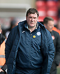 Aberdeen v St Johnstone…31.03.18…  Pittodrie    SPFL<br />Tommy Wright<br />Picture by Graeme Hart. <br />Copyright Perthshire Picture Agency<br />Tel: 01738 623350  Mobile: 07990 594431