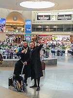 israel,Tel Aviv, airport Ben Gurion, the jude orthodox selfie