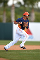 Houston Astros shortstop Cesar Izturis (3) during a spring training game against the Miami Marlins on March 21, 2014 at Osceola County Stadium in Kissimmee, Florida.  Miami defeated Houston 7-2.  (Mike Janes/Four Seam Images)