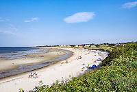 Vacationers at Corporation Beach, Dennis, Cape Cod, Massachusetts, USA