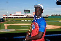 Damaal-Jordan Sands during the Under Armour All-America Tournament powered by Baseball Factory on January 17, 2020 at Sloan Park in Mesa, Arizona.  (Zachary Lucy/Four Seam Images)