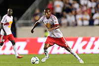 Roy Miller (7) of the New York Red Bulls. The New York Red Bulls and the Philadelphia Union played to a 0-0 tie during a Major League Soccer (MLS) match at Red Bull Arena in Harrison, NJ, on August 17, 2013.