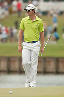 PONTE VEDRA BEACH, FL - MAY 6: Justin Rose walks to his ball on the 17th green during his practice round on Wednesday, May 6, 2009 for the Players Championship, beginning on Thursday, at TPC Sawgrass in Ponte Vedra Beach, Florida.