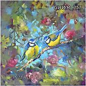 Simon, REALISTIC ANIMALS, REALISTISCHE TIERE, ANIMALES REALISTICOS, innovativ, paintings+++++SueGardner_BluebirdsAndBlossom,GBWR357,#a#, EVERYDAY