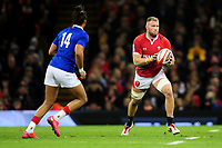 Ross Moriarty of Wales in action during the Guinness Six Nations Championship Round 3 match between Wales and France at the Principality Stadium in Cardiff, Wales, UK. Saturday 22 February 2020