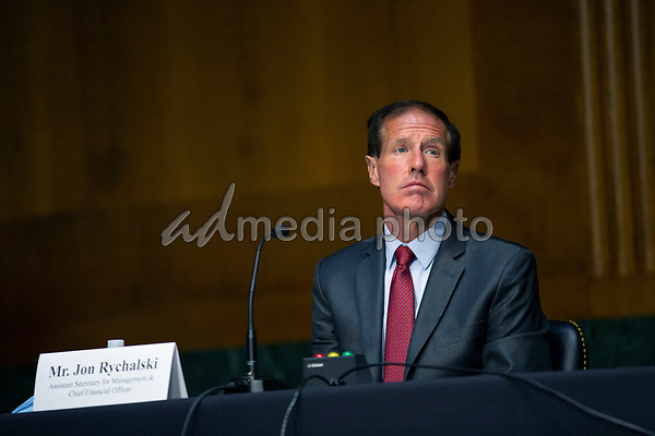 Jon Rychalski, Assistant Secretary for Management and Chief Financial Officer testifies before the United States Senate Committee on Veteran's Affairs on Capitol Hill in Washington D.C., U.S., on Wednesday, June 3, 2020.  Credit: Stefani Reynolds / CNP/AdMedia
