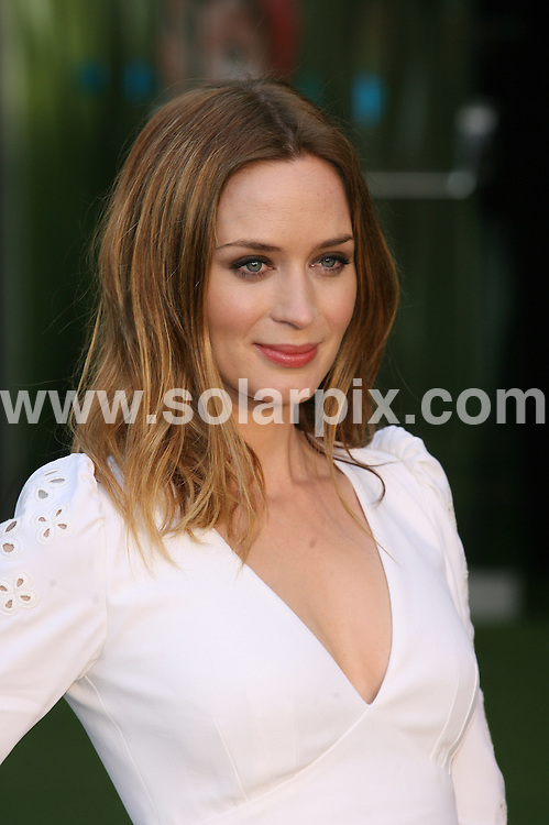 **ALL ROUND PICTURES FROM SOLARPIX.COM**                                             **WORLDWIDE SYNDICATION RIGHTS**                                                                                  Caption: UK film premiere of Gnomeo and Juliet at Odeon Leicester Square  in London Uk                                                                              This pic: Emily Blunt                                                                                              JOB REF: 12730       LNJ       DATE:  30.01.2011                                                          **MUST CREDIT SOLARPIX.COM OR DOUBLE FEE WILL BE CHARGED**                                                                      **MUST AGREE FEE BEFORE ONLINE USAGE**                               **CALL US ON: +34 952 811 768 or LOW RATE FROM UK 0844 617 7637**