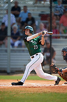 Dartmouth Big Green outfielder Matt Feinstein (23) at bat during a game against the Southern Maine Huskies on March 23, 2017 at Lake Myrtle Park in Auburndale, Florida.  Dartmouth defeated Southern Maine 9-1.  (Mike Janes/Four Seam Images)