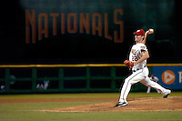 3 September 2005: John Patterson, starting pitcher for the Washington Nationals, on the mound during a game against the Philadelphia Phillies. The Nationals defeated the Phillies 5-4 at RFK Stadium in Washington, DC. <br />