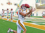 Iowa State Cyclones tight end Vince Ewald (35) in action during the game between the Iowa State Cyclones and the Baylor Bears at the Floyd Casey Stadium in Waco, Texas. Baylor defeats Iowa State 49 to 26.