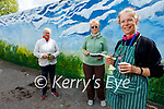 Celebrating the Nursing Homes of Ireland Art Week with a mural painted on the wall in Fatima Home by the Tralee Art Group on Monday. L to r: Geraldine Kissane, Eileen Corcoran and Clem O'Keeffe from the Tralee Art Group,