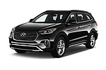2019 Hyundai Santa FE XL Limited Ultimate 5 Door SUV angular front stock photos of front three quarter view