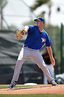 Toronto Blue Jays pitcher Matthew Smoral (83) during a minor league spring training game against the Pittsburgh Pirates on March 26, 2015 at Pirate City in Bradenton, Florida.  (Mike Janes/Four Seam Images)