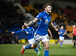 St Johnstone v Ross County…..29.12.19   McDiarmid Park   SPFL<br />Callum Hendry celebrates his goal.<br />Picture by Graeme Hart.<br />Copyright Perthshire Picture Agency<br />Tel: 01738 623350  Mobile: 07990 594431