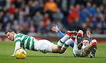 Andy Halliday tackles Callum McGregor