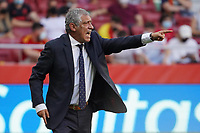 4th June 2021; Madrid, Spain International football friendly, Spain versus Portugal,  Portugal national team head coach Fernando Santos