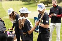 STANFORD, CA - APRIL 25: Brianna Navarrosa, Amelia Garvey at Stanford Golf Course on April 25, 2021 in Stanford, California.