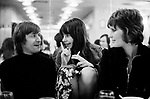 Patrick Ward photographer, Susie Tomlinson who worked on the picture desk for picture editor  Patricia Elkins at the Weekend Telegraph Magazine lunch March 1972